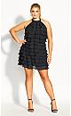 Plus Size Waterfall Dress - black
