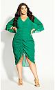Drawn Up Dress - green