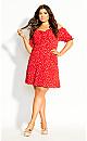 Tie Blossom Dress - red