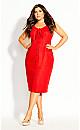 Summer Tie Dress - red