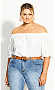 Buttoned Love Top - ivory