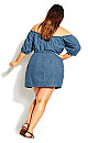 Denim Heart Dress - denim