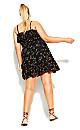 Plus Size Spring Tide Floral Dress - black