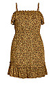 Baby Animal Dress - ochre