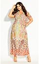 Plus Size Saffron Mirror Maxi Dress - saffron
