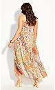 Plus Size Saffron Maxi Dress - saffron