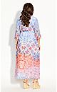 Cassia Tie Maxi Dress - ivory