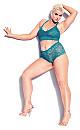 Plus Size Kira Lace Bralette - emerald