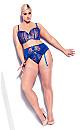 Tatiana Garter Belt - royal blue