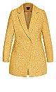 Plus Size Textured Bliss Coat - gold