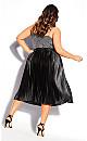 Liquid Pleat Skirt - black