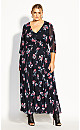 Love Floral Maxi Dress - black