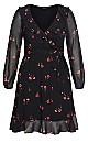 Delicate Petal Dress - black