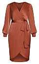 Plus Size Opulent Dress - toffee