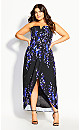 Plus Size Electric Orchid Maxi Dress - black