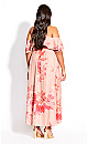 Plus Size Elegant Ruffle Maxi Dress - blush