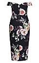 Luxe Bouquet Maxi Dress - black