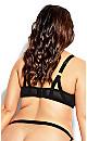 Plus Size Angelika Balconette Bra - black