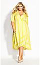 Zesty Stripe Dress - lemon