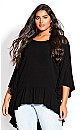 Hi Lo Seeker Top - black