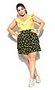Sun Floral Skirt - black