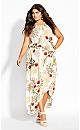 Laysan Wrap Maxi Dress - ivory