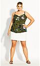 Plus Size U Front Bali Top - khaki
