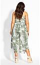 Plus Size Oahu Sleeveless Jumpsuit - white