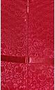 Sassy Lace Dress - crimson