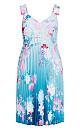 Plus Size Tsubaki Dress - cerulean