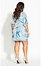 Kiku Floral Dress -  blue