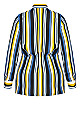 Plus Size Sol Stripe Shirt - black