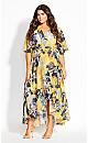 Sol Floral Maxi Dress - zinnia