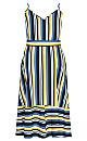 Sol Stripe Dress - lemon
