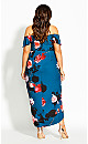 Plus Size Floral Bliss Maxi Dress - emerald