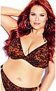 Plus Size Vibeka Print Bikini Top - leopard