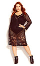 Crochet Love Tunic - black