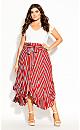 Plus Size Tigerlily Stripe Skirt - tigerlily