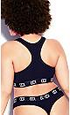 Plus Size CCX Logo Crop Top - black