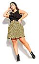 Plus Size Vintage Ditsy Skirt - sage