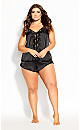 Plus Size Mimi Cami - black