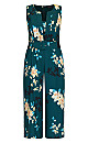 Plus Size Otsu Floral Jumpsuit - forest