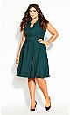 Plus Size Vintage Veronica Dress - forest