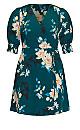 Plus Size Otsu Floral Dress - forest