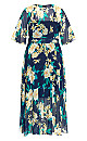 Plus Size Shibuya Floral Maxi Dress - navy