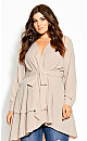 Plus Size Soft Touch Tunic - sand