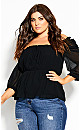 Plus Size So Sweet Top - black