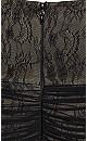 Plus Size Secret Desire Maxi Dress - black