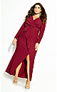 Plus Size One Dream Maxi Dress - red
