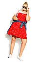 Plus Size Cute Pini Dress - red